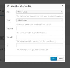 shortcodes wp statistics